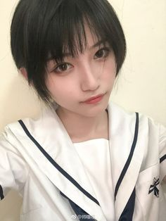 Cute Asian Girls, Cute Girls, Ideal Girl, Ulzzang, Beautiful Japanese Girl, Girl Short Hair, Female Images, Stylish Girl, Cosplay Girls