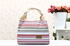 Insulated Canvas Lunch Bag in Choice of Colour for AED 39!!
