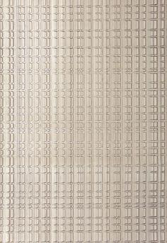 Wallcovering / Wallpaper   Urban Stripe in Zinc   Schumacher