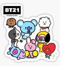 Pegatinas «BT21» de HisLilLeo | Redbubble Aesthetic Stickers, Bts Members, Pink Aesthetic, Photo Cards, Picsart, Hello Kitty, Snoopy, Fan Art, Comics