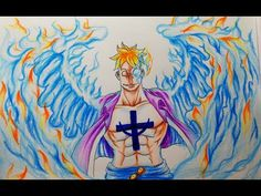 How to draw Marco the Phoenix || Onepiece || Vẽ Phượng hoàng lửa Marco - YouTube Colored Pencils, Princess Zelda, Drawings, Fictional Characters, Art, Colouring Pencils, Art Background, Kunst, Paint Colors