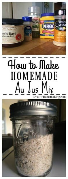 Au Jus Mix The best french dip au jus mix recipe. How to make au jus mix without MSG. One of my favorite homemade mixes.The best french dip au jus mix recipe. How to make au jus mix without MSG. One of my favorite homemade mixes. Homemade Dry Mixes, Homemade Spices, Homemade Seasonings, Soup Mixes, Spice Mixes, Spice Blends, Spice Rub, Aujus Sauce, French Dip Au Jus