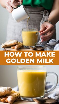Golden milk (or turmeric milk) is filled with antioxidants and has anti-inflammatory properties. Making it at home is incredibly easy. All you need is 5 basic ingredients! Video tutorial included. #vegan #turmeric #goldenmilk #drink Healthy Gluten Free Recipes, Easy Delicious Recipes, Vegetarian Recipes, Yummy Food, Turmeric Milk, Thing 1, Golden Milk, Cookers, Fabulous Foods