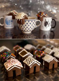 'Tis the season for Tiny Gingerbread Houses! #diy #recipe