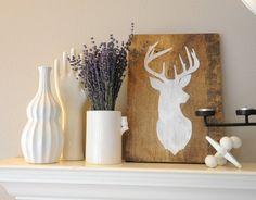 Deer Head Painting on Etsy, $30.00