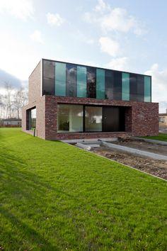 House A Machelen - caan architect - nis rond voordeur