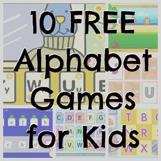 10 FREE Alphabet Games for Kids