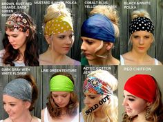 Choose ANY THREE  Wide Stretchy Headband Yoga by SWAKCouture, $30.00