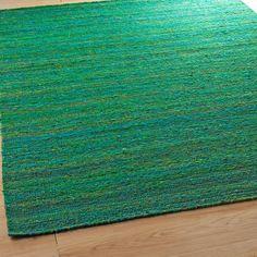 Recycled Sari Silk Flatweave Rug - 6 colors