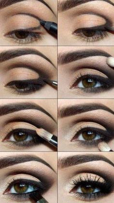 Makeup! Try and perfect with step by step! Give ur eyes depth . To make your…