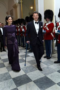 Crown Princess Mary and Crown Prince Frederik attend the Culture and Sport Gala Evening at Christiansborg Castle on March 17, 2009 in Copenhagen, Denmark.
