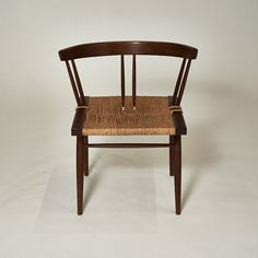 George Nakashima, Black Walnut and Woven Chair, USA, 1957 | From a unique collection of antique and modern chairs at https://www.1stdibs.com/furniture/seating/chairs/