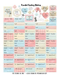 FREE My Planner Envy: Prenatal Tracker Bundle of Stickers - Free Planner Printable