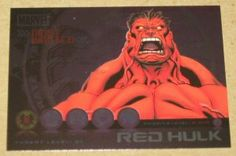Marvel Heroes and Villains (Rittenhouse 2010) Most Wanted Card M2 Red Hulk EX-MT
