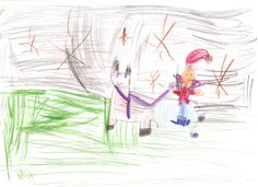 """Kerstman met rendier en slee"" (5 jaar)"