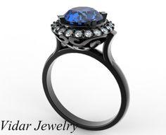 Unique Black Gold Ring Design