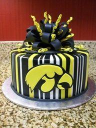 iowa hawkeye cake for justin - so perfect