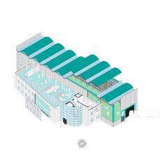 EDIFICIO ODOS__Este edificio cohesiona dos volúmenes muy diferenciados, pero interiormente conectados. Con unas necesidades de grandes espacios de almacenamiento combinados con zonas de oficinas y servicios.