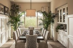 Add some greenery to the dining room [Design: Camelot Homes]