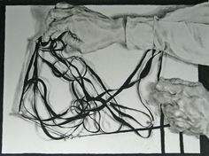 "Saatchi Art Artist Brian K Simpson; Drawing, ""Arrangement Over Nailed Paper 1"" #art"