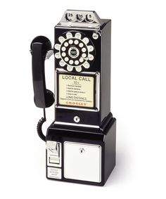Black 1950s Pay Phone | Daily deals for moms, babies and kids