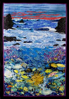 """Quilt Inspiration: Making Waves: the Adventures of a Surf Quilter... """"Beyond the Tides"""" by Rob Appell"""