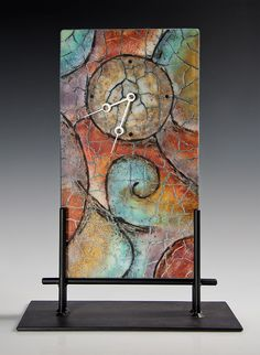 Fused Glass Clock by Nancy Cann