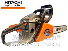 Motosega Hitachi per il taglio di legname, legna da ardere, pulizia del bosco, lavori di giardinaggio.