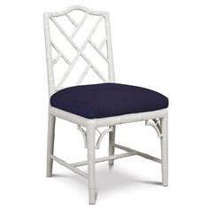 Jonathan Adler Dining Chairs  At $550 a piece....yikes! But I bet I can find ones to paint and replicate this!