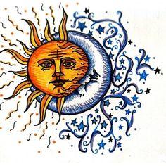 Sun and moon art,sun moon tattoo by faerone. Sun Moon Stars, Sun And Stars, Sun Tattoos, Great Tattoos, Tatoos, Amazing Tattoos, Moon Star Tattoo, Tattoo Mond, 3 Tattoo