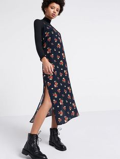 Alex #Floral Midi #SlipDress