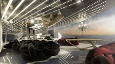 X-Force 145 yacht concept - Bow Lounge