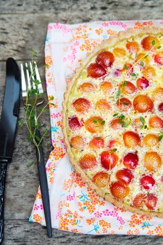 gluten free cherry tart