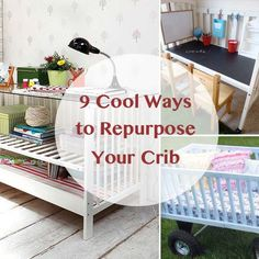 Instead of tossing out an old crib, why not make it useful in another part of your home? From cool kid desks and chalkboards to pretty play wagons, these creative ideas for repurposing cribs are must-sees. Click through to get inspired!