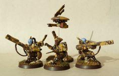 Converted Pathfinders - Females, marker lights on pulse rifles.