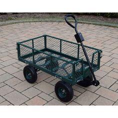 Oakland Living Corporation 450 lb Weight Capacity Garden Cart with Adaptor Handle in
