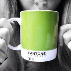Fan Foto Friday! Steph Pollitt starts off her mornings by sipping coffee from her PANTONE Universe 376 cup! Got a favorite Pantone Universe mug?! #pantone