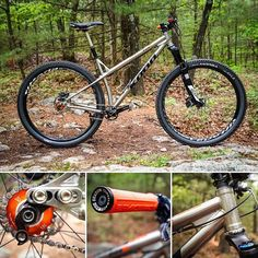 """#tituesdayswithkona is here bright and early and this week we have Thom's """"Do Stupid Stuff"""" single speed Ti Honzo. The full photo-set and build details are on the Cog now. (Link in our profile). #tituesday #ShowUsYourTi Hardtail Mountain Bike, Mountain Bike Trails, Single Speed Mountain Bike, Paint Bike, Push Bikes, Bike Pedals, Mtb Bike, Cool Bikes, Stupid Stuff"""
