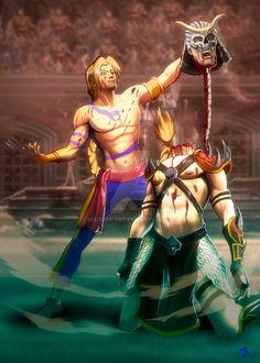 Vega Vs Shao Khan by Madboy-Art on DeviantArt Crossover, Street Fighter Characters, Balrog, Mortal Kombat X, Fight Night, Big Hero 6, Fighting Games, Manga Anime, Pop Culture