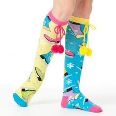 Ice Skate socks from Little Miss Matched...would make great party favors.
