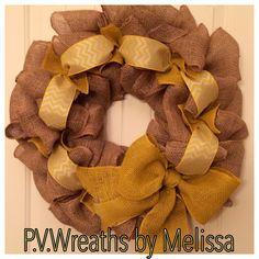 Yellow chevron wreath