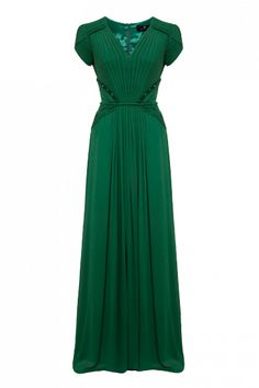 emerald green dress This would go well with a hat I have!
