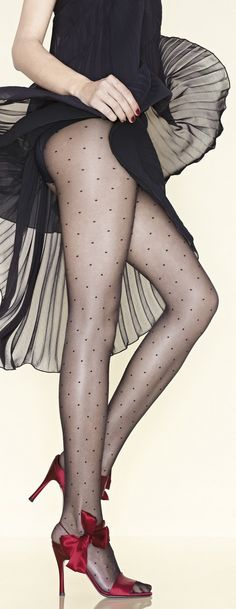 Classy stockings with dots
