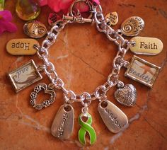 Lyme Disease Awareness Charm Bracelet by shaunaprudhomme on Etsy, $55.00
