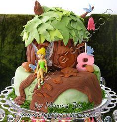 tinkerbell house cake
