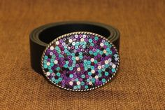 Women's Belt Buckle  Heishi beads flat in multi by ShaggySugar, $28.00