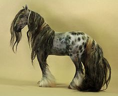 Felting over Polymer Clay, Gypsy cob/Vanner