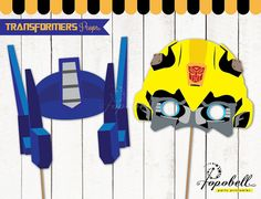 Transformers Props for Transformers Birthday Party. Instant Download Transformers Printables. DIY Transformers Party photobooth props.