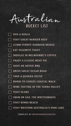 Ideas Travel Bucket List Australia Wanderlust For 2019 Travel Checklist, Travel List, Travel Bucket Lists, Travel Goals, Places To Travel, Travel Destinations, Africa Destinations, Holiday Destinations, Destination Voyage