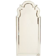 Art Deco Venetian Style Keyhole Mirror | From a unique collection of antique and modern wall mirrors at http://www.1stdibs.com/furniture/mirrors/wall-mirrors/